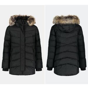 NWT Under Armour Storm Parka Puffer Jacket Coat Black Faux Fur Hood Youth S/M/L